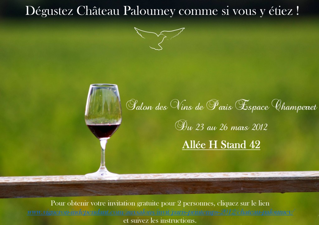 Martine cazeneuve le blog du ch teau paloumey for Salon du vin champerret